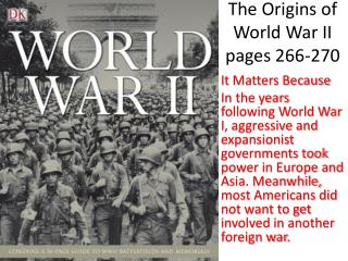 The Origins of World War II  pages 266-270