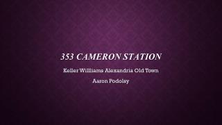 353 Cameron station
