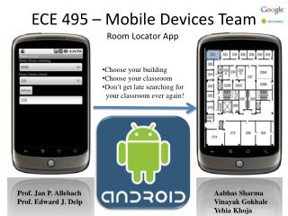 ECE 495 – Mobile Devices Team