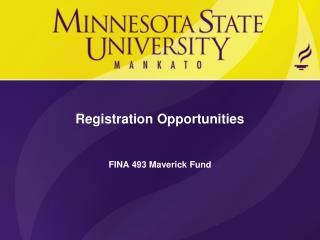 Registration Opportunities