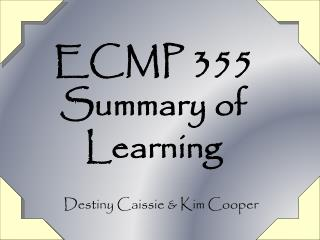 ECMP 355 Summary of Learning
