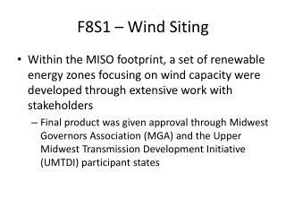 F8S1 – Wind Siting