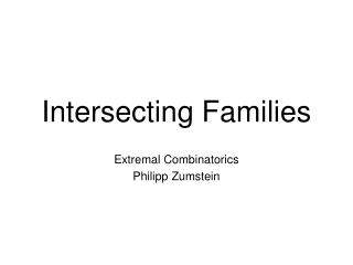 Intersecting Families