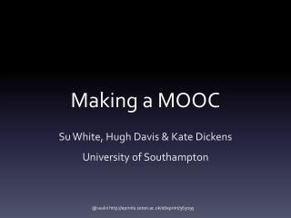 Making a MOOC