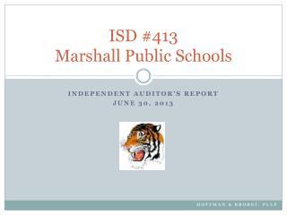 ISD #413 Marshall Public Schools