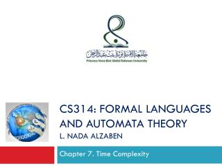 Chapter 7 . Time Complexity