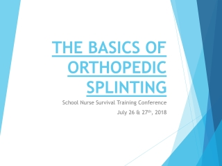 Extremity Splinting: SAM Splint