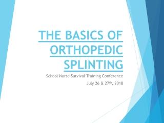 Extremity Splinting: SAM Splint