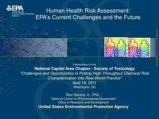 Human Health Risk Assessment:  EPA s Current Challenges and the Future