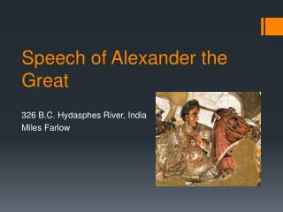 Speech of Alexander the Great