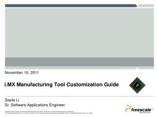 i.MX Manufacturing Tool  Customization Guide