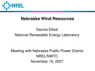 Nebraska Wind Resources