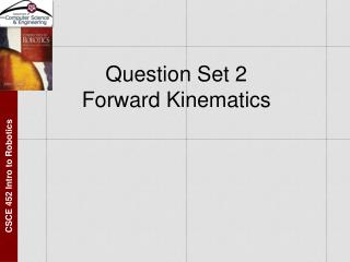 Question Set 2 Forward Kinematics