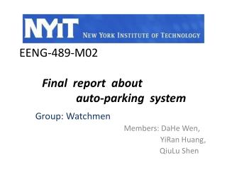 EENG-489-M02 Final  report  about                       auto-parking  system