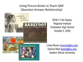 Using Picture Books to Teach QAR Question-Answer Relationship