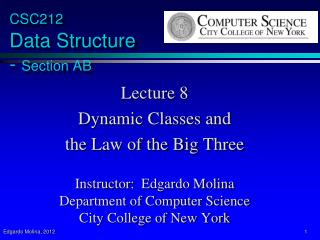 CSC212  Data Structure  -  Section  AB