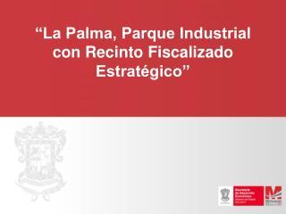"""""""La Palma, Parque Industrial con Recinto Fiscalizado Estratégico"""""""