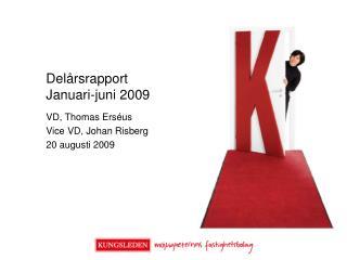 Del�rsrapport  Januari-juni 2009