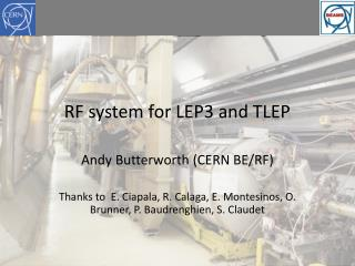 RF system for LEP3 and TLEP