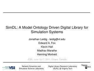 SimDL: A Model Ontology Driven Digital Library for Simulation Systems