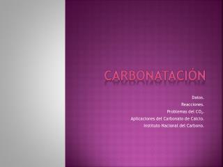 Carbonatac ión