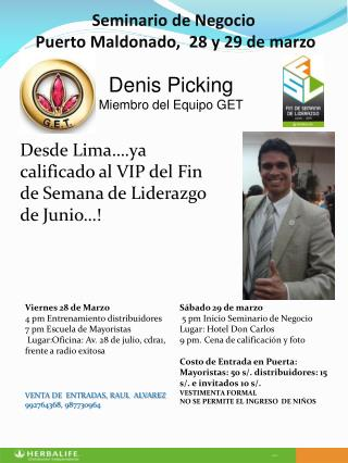 Seminario de Negocio  Puerto Maldonado,  28 y 29 de marzo