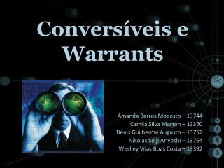 Conversíveis e Warrants