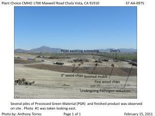 Plant Choice CMHO 1700 Maxwell Road Chula Vista, CA 9191037-AA-0975