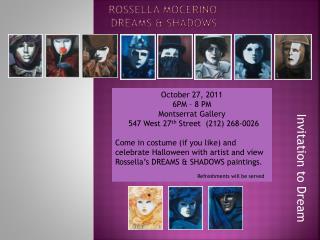 Rossella Mocerino DREAMS & SHADOWS