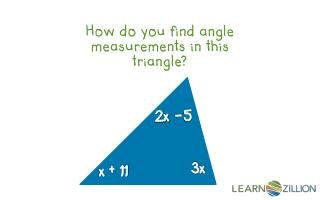How do you find angle measurements in this triangle?