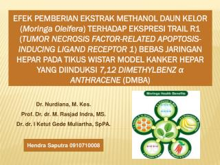 Dr.  Nurdiana , M.  Kes . Prof. Dr. dr. M.  Rasjad Indra , MS.