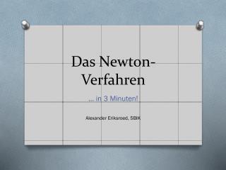 Das Newton-Verfahren