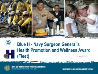 Blue H - Navy Surgeon General's  Health Promotion and Wellness Award  (Fleet)