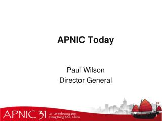 APNIC  Today