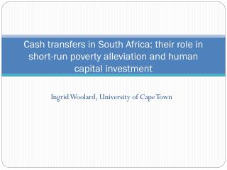 Ingrid Woolard, University of Cape Town