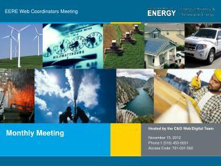 EERE Web Coordinators Meeting