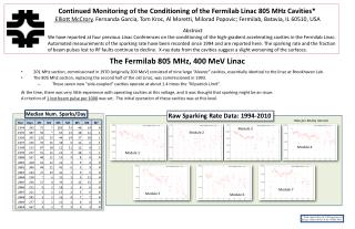 The Fermilab 805 MHz, 400  MeV  Linac