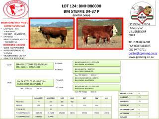 LOT 124: BMH080090 BM STEFFIE 04-37 P GEM TKP: 369 (4)