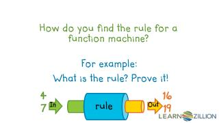 How do you find the rule for a function machine?
