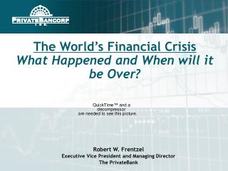 The World s Financial Crisis  What Happened and When will it be Over