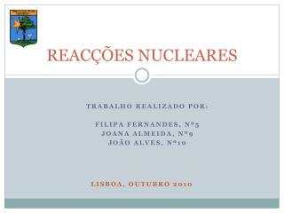 REAC��ES NUCLEARES