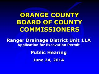 ORANGE COUNTY BOARD OF COUNTY COMMISSIONERS