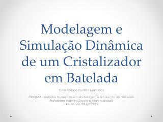 Modelagem e Simulação Dinâmica de um Cristalizador em  Batelada