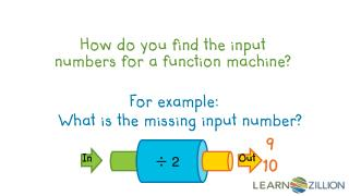 How do you find the input numbers for a function machine?