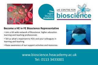 Join a UK wide network of Bioscience higher education  learning and teaching professionals