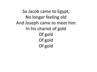 Jakob in Egypt