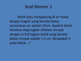 Soal Nomor  1