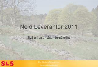 Nöjd  Leverantör 2011