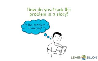 How do you track the problem in a story?