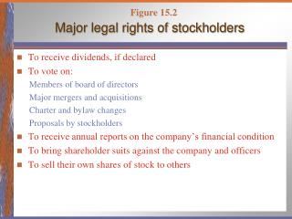 Major legal rights of stockholders